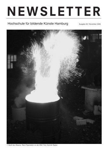NEWSLETTER - Hochschule für bildende Künste Hamburg