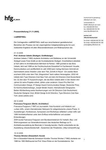 Aufr umarbeiten david sa for Hochschule gestaltung offenbach