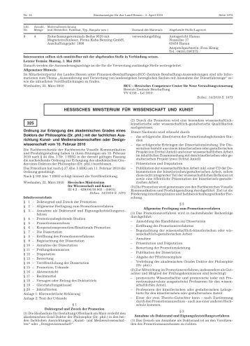 Promotionsordnung der hfg staatliche hochschule f r for Hochschule gestaltung offenbach
