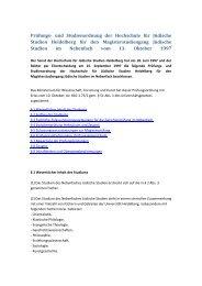 Nebenfach - Hochschule für Jüdische Studien Heidelberg