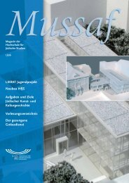 Mussaf 01/06 - Hochschule für Jüdische Studien Heidelberg