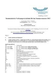 Vorlesungsverzeichnis - Hochschule für Jüdische Studien Heidelberg