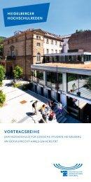 VORTRAGSREIHE - Hochschule für Jüdische Studien Heidelberg