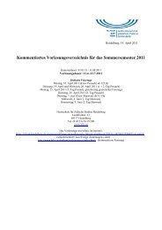 Sommersemester 2011 - Hochschule für Jüdische Studien Heidelberg