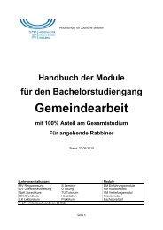 Gemeindearbeit - Hochschule für Jüdische Studien Heidelberg