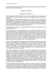 Rede des Bundesinnenministers - Hochschule für Jüdische Studien ...