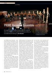 PRIME Recorder Ensemble - Hochschule für Künste Bremen