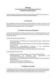 Satzung - Hochschule für Künste Bremen