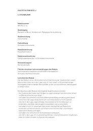 HauPtfacHModul 4 4. Studienjahr Modulnummer BM-Hf4-2.1a ...