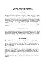 Deutschlandstipendien-Vergabe-Satzung - Hochschule für Künste ...