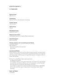 HauPtfacHModul 3 3. Studienjahr Modulnummer BM-HF3-2.1c ...