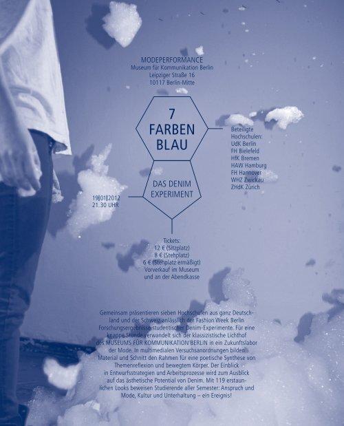 7 FARBEN BLAU - Hochschule für Künste Bremen