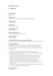 HauPtfacHModul 4 4. Studienjahr Modulnummer BM-HF4-2.1e ...