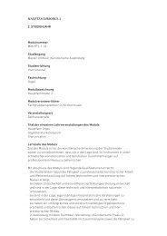 HAuPtfAcHMOdul 2 2. Studienjahr Modulnummer MM-HF2-1.1d ...
