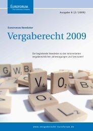 Euroforum Newsletter Vergaberecht - HFK Rechtsanwälte