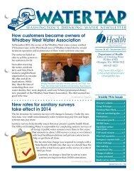 Water Tap - Washington State Department of Health