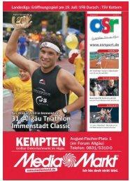 ASR Sport Ausgabe Juli 2013 - Allgäu Sport Report