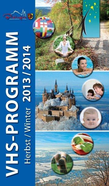 Volkshochschulprogramm Herbst/Winter 2013/2014 - Gemeinde ...