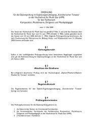 Prüfungsordnung examination regulations - Hochschule für Musik ...