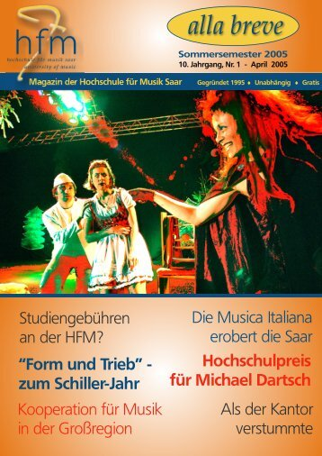 alla breve - Hochschule für Musik Saar - Saarland