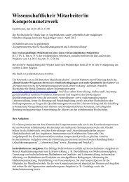 Wissenschaftliche/r Mitarbeiter/in Kompetenznetzwerk