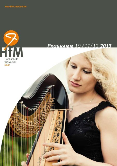 Konzertprogramm Oktober - Dezember 2013 - Hochschule für Musik ...
