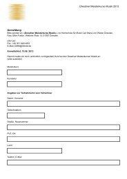 Dresdner Meisterkurse Musik 2013 Anmeldung - Hochschule für ...