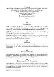 Verordnung über die Eignungsprüfung (PDF) - Hochschule für ...