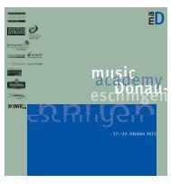 Flyer musik akademy Donaueschingen vom 17 ... - HfMDK Frankfurt