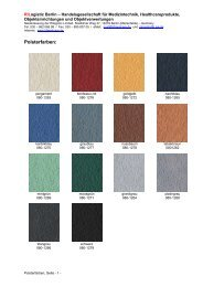 Farben gemäß Produktfarbkarte hier - Rilogistic Berlin