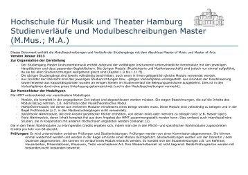 Master-Modulbeschreibungen - Hochschule für Musik und Theater ...