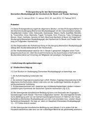 Elementare Musikpädagogik (EMP) - Hochschule für Musik und ...