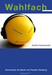 Wahlfachangebote - Hochschule für Musik und Theater Hamburg