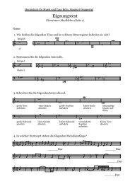 Elementare Musiklehre 2009 - Hochschule für Musik und Tanz Köln