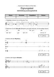 Musterklausur Gehörbildung (Aufgabenblatt) - Hochschule für Musik ...