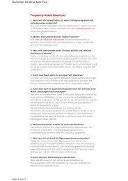 Frequently Asked Questions Hochschule für Musik Köln: FAQ Seite ...