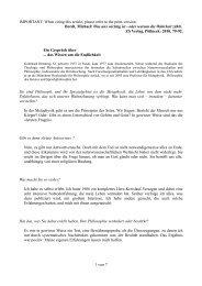 Ein Gespräch über das Wissen um die Endlichkeit. - Hochschule für ...