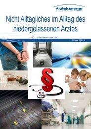 Broschüre: Nicht Alltägliches im Alltag des niedergelassenen Arztes