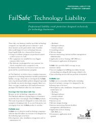 FailSafe® Technology Liability - Hartford Financial Products (HFP)
