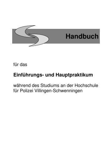 Endfassung Handbuch_Juli 09.pdf - Hochschule für Polizei