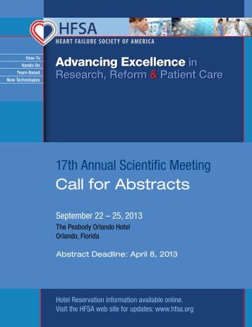 download the call for abstracts - Heart Failure Society of America