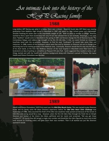 1988 to 2000 - HFP Racing