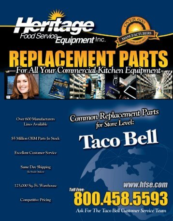 TACO BELL Catalog - Heritage Food Service Equipment, Inc.