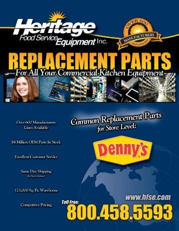 Denny's Common Replacement Parts For Store Level