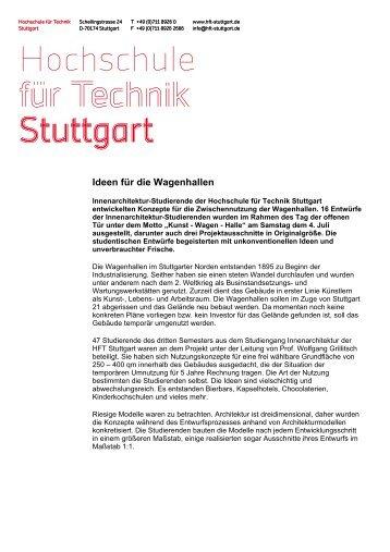 Innenarchitektur Hft Stuttgart weiterentwicklung studiengang hft stuttgart