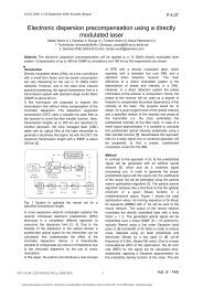 Title - Template for Papers ECOC 2004 - TU Berlin