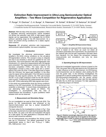 Extinction Ratio Improvement in Ultra-Long Semiconductor Optical ...