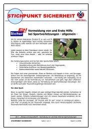 Vermeidung von Sportverletzungen und Erste Hilfe