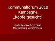 """Kommunalforum 2010 Kampagne """"Köpfe gesucht"""""""
