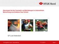 Dienstsport bei der Feuerwehr… - HFUK Nord